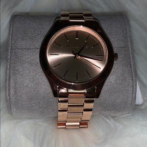 Michael Kors stainless steel watch rose gold tone